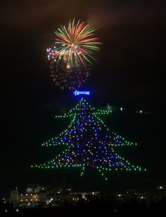 The biggest Christmas tree in the world - #Gubbio, #Umbria, #Italy