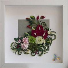 Neli Quilling Art: Quilling paper art in frame - ( 25 cm / 25 cm ) Neli Quilling, Quilling Work, Quilling Flowers, Quilling Cards, Paper Flowers, Quilling Patterns, Quilling Designs, Quilling Ideas, Quilled Paper Art