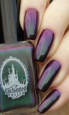 Green, Glaze & Glasses: Enchanted Polish - 2 A.M. Summer Midnight