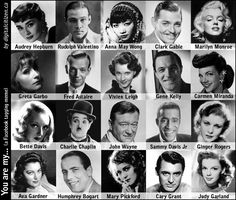 Classic Silver Screen Actors