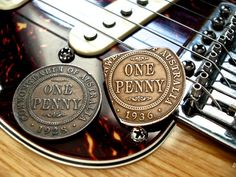 Antique Australian Penny Guitar Pick - 1936 - TheStretchedCent