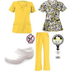 """UA Scrubs Lemon Drop"" by uascrubs on Polyvore"