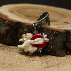 Red fish pendant handmade lampwork  fish pendant by FreakyCave