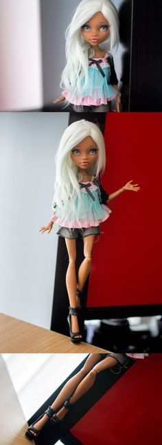 OOAK Monster High Clawdeen by Andreja (aka Nicolle's Dreams) Custom Monster High Dolls, Monster Dolls, Monster High Repaint, Custom Dolls, New Dolls, Ooak Dolls, Pretty Dolls, Beautiful Dolls, Ever After Dolls