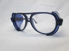8f296d6603 AMERICAN OPTICAL AO Vintage New Old Stock Safety Glasses Pilot Blue Clear  Industrial Safety