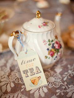 It's always time for (high) tea! :) #food #tea #party #teatime #teapot #vintage