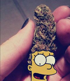 #marge #weed #pot #art