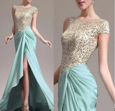 2013 Hot sexy Asymmetric sleeves Formal Evening Dress Prom Ball Gown