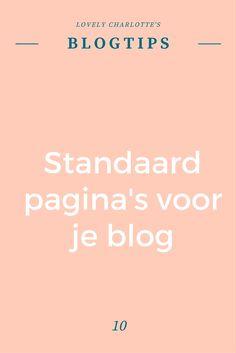 Lovely Charlotte's #blogtips | Standaard pagina's voor je #blog