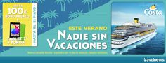 Ofertas en www.viajesviaverde.es: Con Costa Cruceros, consigue tu mejor verano