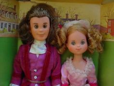 Mattel 1974 Liberty Patriots Star Spangled Banner dolls. I didn't have these two, but I had the Southern Belle and the Indian Maiden. I LOVED those dolls. Still have them.