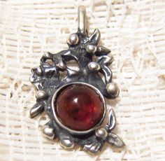 Antique Art Nouveau Baltic Amber 800 Silver by ViksVintageJewelry, $95.00