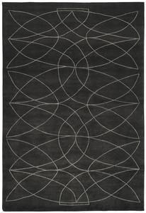 Akana DGR Rug    Product Family: Akana    Designer: Kristiina Lassus    Colour: Dark Grey - Natural Linen    Standard quality: KL107B - 100 knots, Wool, Bamboo Silk, Pattern in Natural Linen    Handknotted in Nepal, l...