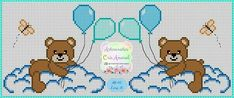 Cute Cross Stitch, Cross Stitch Charts, Cross Stitch Embroidery, Cross Stitch Patterns, Crochet Patterns, Baby Teddy Bear, Canvas Designs, Pixel Art, Crochet Baby