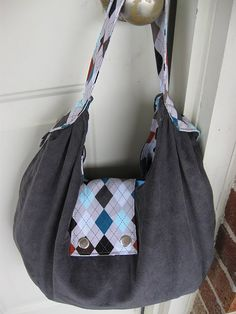 slouchy bag sewing tutorial