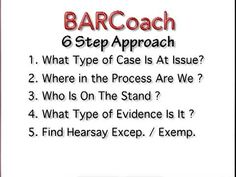 BAR EXAM 6 Step EVIDENCE Approach for MBE - YouTube @alexabattisti ...this really helped me in evidence!