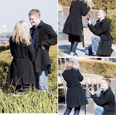 Secret photographer for a proposal is sooooo cute!