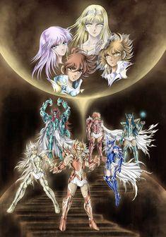 Saint Seiya by SpaceWeaver Fanfic Saint Seiya, King Of Fighters, Animation, Comic Games, Japan Art, Fantasy Characters, Digimon, Canvas, Comic Art
