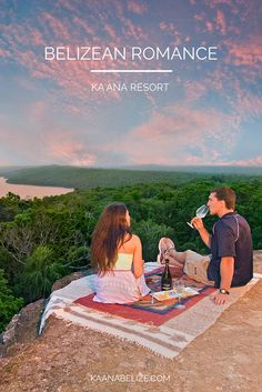 A perfect Valentine's Day: toasting the sunset on top of a Mayan temple. #romance #xoBelize