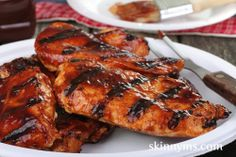 Barbecue Grilled Chicken Breasts - This simple and easy prep recipe is made with our sweet & savory barbecue sauce. #lowcalorie #cleaneating