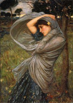 John William Waterhouse: Boreas artworks, inspir artist, john william waterhouse, borea, paint artwork