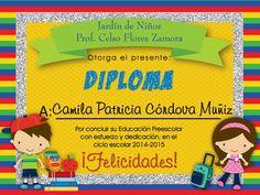 Diploma Educación Preescolar  Kinder