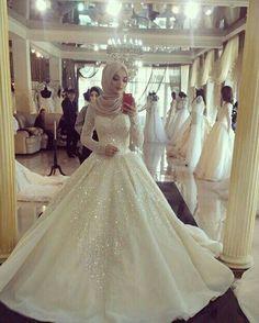 Hijab WeddingThough I'm not Muslim myself, I think Muslim wedding dresses and hijabs are so beautiful. Hijab Wedding Source : Though I'm not Muslim myself, I think Muslim wedding dresses and hijabs are …. Long Sleeve Bridal Dresses, Muslim Wedding Dresses, 2016 Wedding Dresses, Bridal Gowns, Dresses 2016, Muslim Wedding Gown, Muslimah Wedding, Wedding Hijab, Elegant Ball Gowns