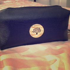 Gorgeous black Makeup bag Good quality elegant with strap attached Bags Cosmetic Bags & Cases