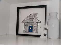home sweet home word art print by definedesign11 - great house warming gift!