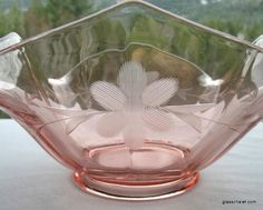 Pink Rose Depression Glass