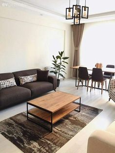 Teal Living Rooms, Home Living Room, Living Room Decor, Living Room Kitchen, Luxe Decor, Bedroom Loft, Modern Interior Design, Home Deco, Sweet Home