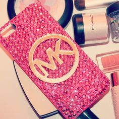 MICHAEL KORS                                                                                                                                            Pink And Gold iPhone Case                                                                                                                                            .:JuSt*!N*cAsE:.