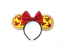 Mickey Mouse Pepperoni Pizza Mouse Ears // Mouse by BobeenaShop