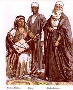 Bedouin, slave and Egyptian woman. c1850