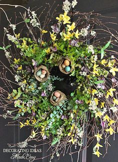 Twig wreaths....so great for Spring!