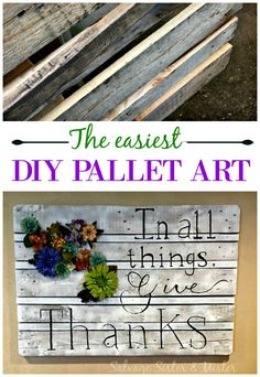 The easiest DIY pall