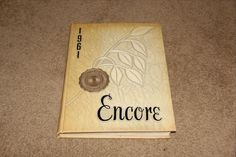 """Rutgers Newark New Jersey College Yearbook Class of 1961 """"Encore"""""""