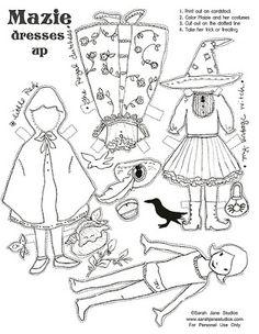 Free Halloween paper doll from Sarah Jane Studios
