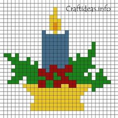 Free Perler Bead Patterns | beads pattern christmas candle print out this fuse bead candle pattern ...