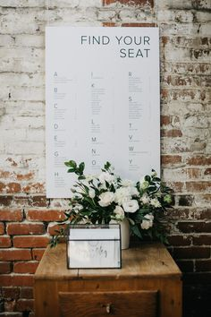 Wedding Trends Our Wedding DIYs and Sources - Homey Oh My - Simple modern wedding ideas and inspiration. Seating Plan Wedding, Wedding Signage, Seating Plans, Wedding Seating Charts, Wedding Ceremony, Wedding Tables, Rever Mariage, Table Seating Chart, Wedding Planning Guide