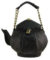 black teapot handbag