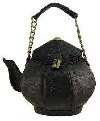 black teapot handbag