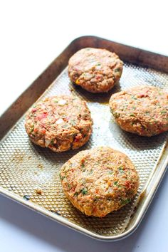 These Mediterranean Chickpea Burgers are jam packed with flavor! This healthy recipe is gluten free, vegan and surprisingly easy to make. Veggie Recipes, Whole Food Recipes, Vegetarian Recipes, Cooking Recipes, Healthy Recipes, Chickpea Burger, Vegan Burgers, Chickpea Patties, Veggie Patties