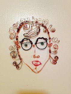 Face study 2016   Wire medium  Marna McManus  On Facebook @sunshowercreations Face Study, Wire, Facebook, Eyes, Medium, Human Eye, Cord, Medium Long Hairstyles, Cable