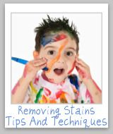 stain removal tips!