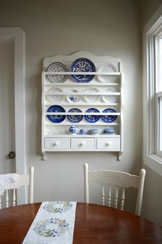 Your place to buy and sell all things handmade White Dish Rack - Wall Plate Display - Wooden Plate Rack - Wall Storage Unit - Kitchen Organization Cabinet Plate Rack, Plate Rack Wall, Diy Plate Rack, Plates On Wall, Plate Racks In Kitchen, Wall Mounted Dish Rack, Wooden Plate Rack, Wooden Plates, Dish Display