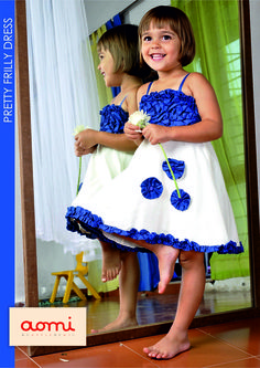 aomi PRETTY FRILLY DRESS for little girls