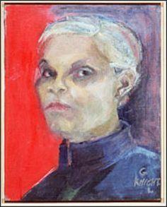 gwendolyn knight paintings | Gwen Knight, self portrait (1991)
