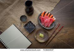 Japanese food, Maguro (Blue Fin Tuna) Sashimi, AKAMI and japan surimi artificial crab
