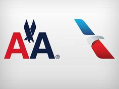 Logotipos antigo e novo da American Airlines #logodesign